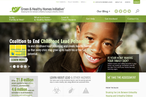 Green & Healthy Homes Initiative Website home page screenshot