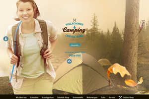 Camping Center Nord Website home page screenshot