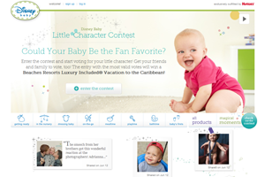 Disney Baby Website home page screenshot