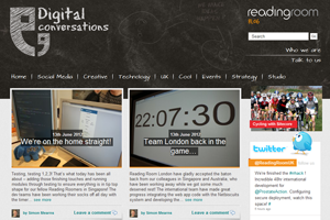 Reading Room - Digital Conversations Blog home page screenshot