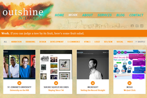 Outshine Interactive Website home page screenshot