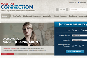 Make the Connection Website home page screenshot
