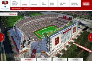 New 49ers Stadium Website home page screenshot
