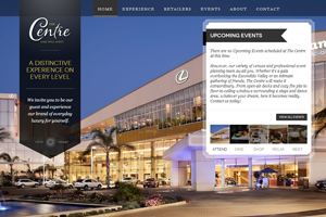 The Centre Website home page screenshot
