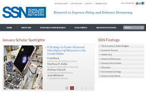 Scholars Strategy Network Website home page screenshot